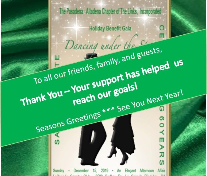 Thank You for Supporting Links in Pasadena-Altadena